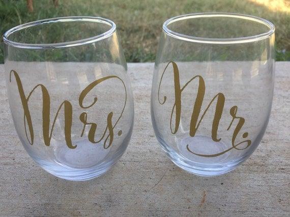 Wedding Gift Personalized Wine Glasses : wine glasses, wedding wine glasses, wedding gift, personalized wedding ...
