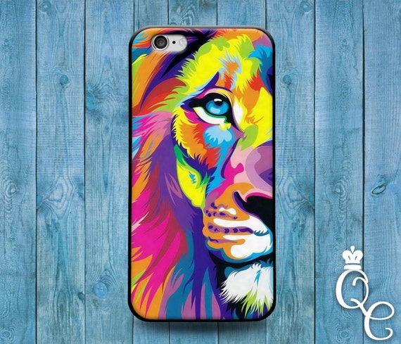 iPhone 4 4s 5 5s 5c SE 6 6s 7 Plus + iPod Touch 4th 5th 6th Generation Cute Rainbow Lion Face Custom Phone Cover Cool Animal Beautiful Case