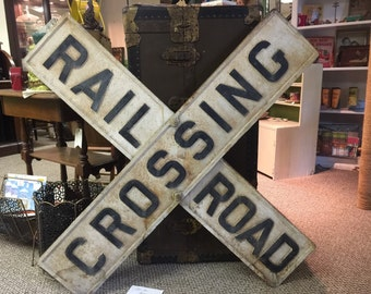 Cast Iron Railroad Crossing Sign