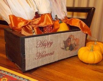 Happy Harvest wood box