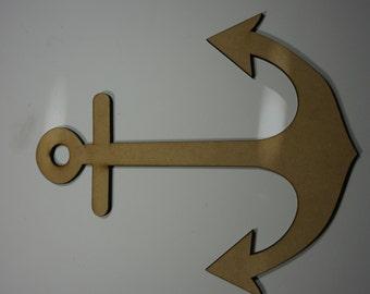 Anchor silhouette cutout