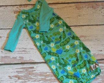 Baby gown, Infant gown, Baby sleepsack, Baby pajamas, Baby clothes, Take home outfit