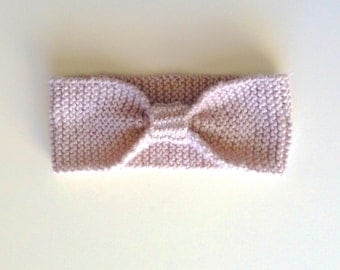 Dusty Pink knitted headband, baby, toddler, kids, knitted bow headband, kids accessories, hair accessories