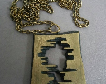 Finnish Bronze Necklace designed by Karl Laine 70's