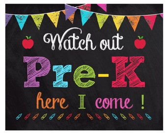 Crazy image in first day of pre k sign printable