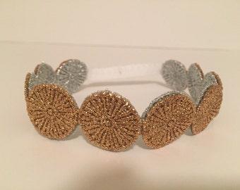 Reversible Lace Headband | Silver and Gold Headband