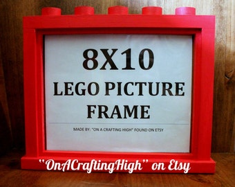 Lego Inspired Picture Frame