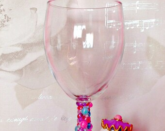 Disney Mrs Potts Wine Glass