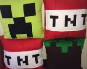 Minecraft Inspired Fleece Cushion Covers / pillow - x2 Covers (20 to choose from)