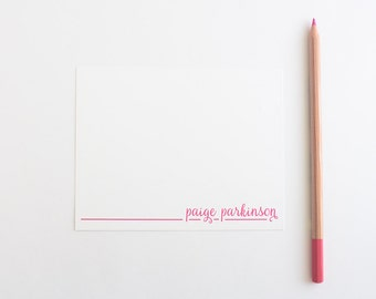Personalized Stationery - Set of 10 Cards // Personalized Calligraphy Note Cards // Modern Calligraphy Stationery // Women's Stationery