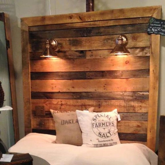 reclaimed wood queen headboard by artiquerusticdesigns on etsy. Black Bedroom Furniture Sets. Home Design Ideas