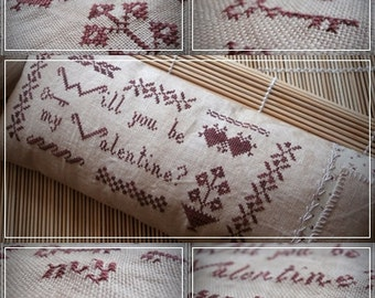 Will you be my Valentine? / Cross stitch pattern