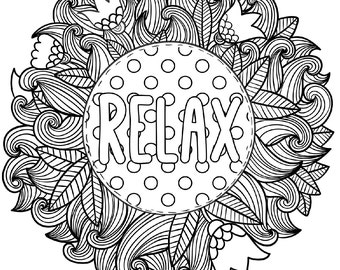 inspirational coloring pages for adults eassume - Inspirational Word Coloring Pages