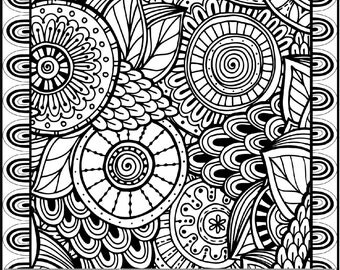 Tribal Printable Coloring Pages for Adults Geometric