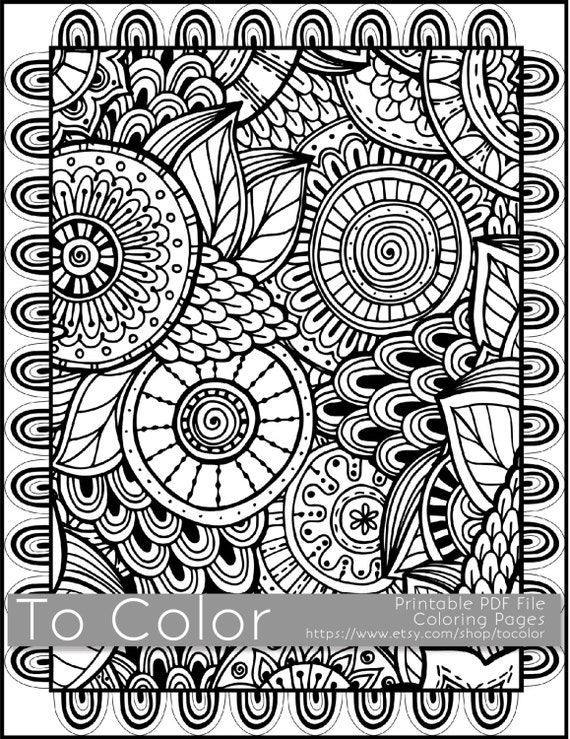 large coloring pages for adults - photo#9