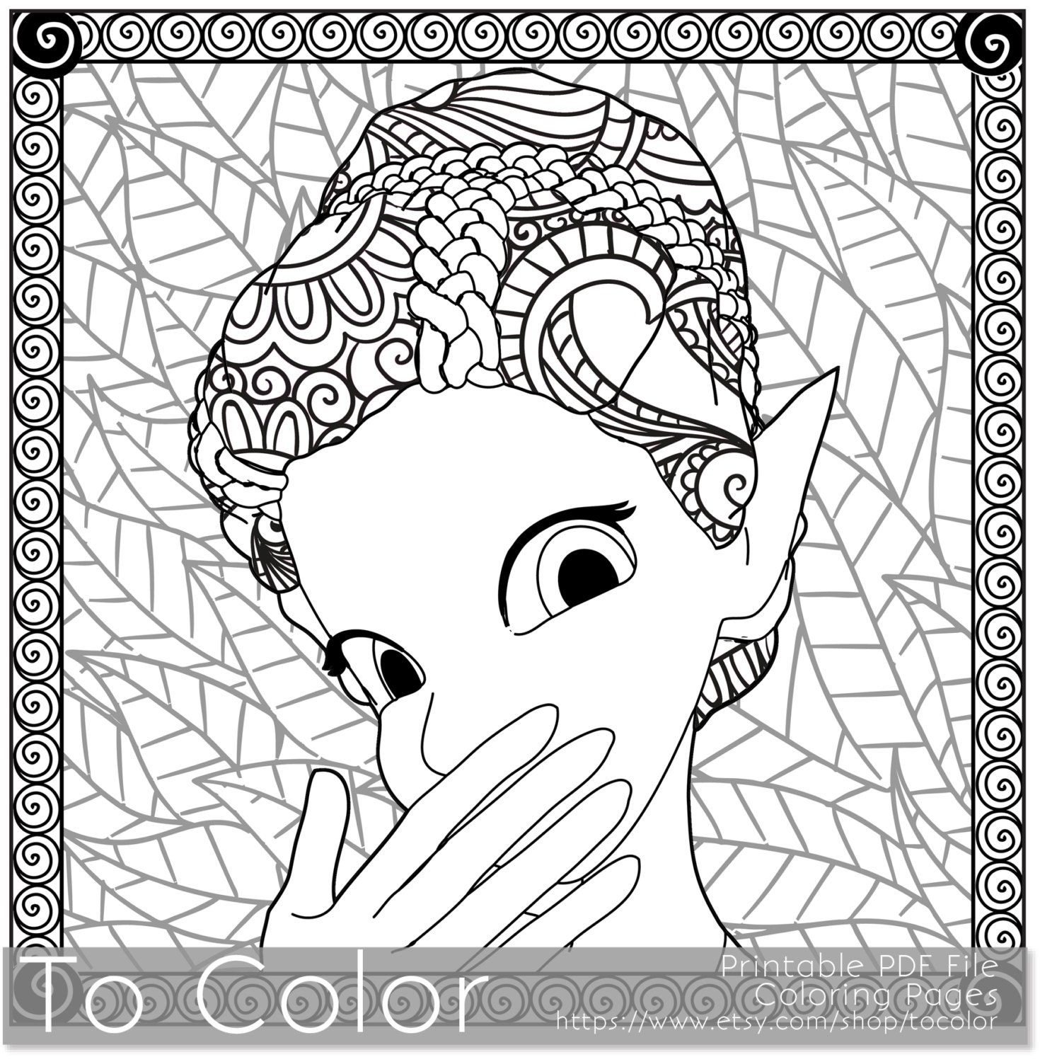 Coloring pages for adults fantasy coloring pdf jpg by for Coloring pages adults pdf