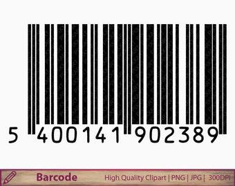 Barcode clipart, bar code clip art, digital barcode illustration, digital download, instant download, commercial use, png jpg 300dpi