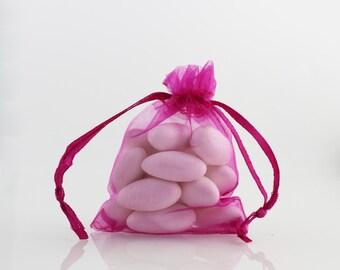 3 x 4 Fuchsia Organza Bag // 3 x 4 in // Organza Bags // BBB supplies {CR-O-F001}