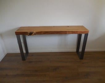 Console table console oak solid steel