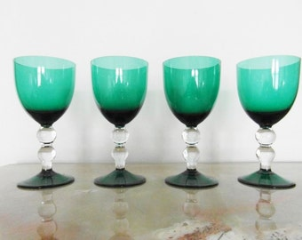 Glass crystal colour set of 4
