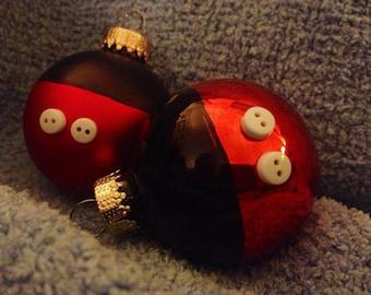 Mickey Bottom Glass Ornaments {set of 10}