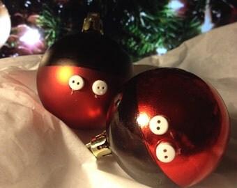 Plastic Mickey Bottom Ball Ornaments {set of 27}