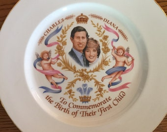 Vintage Charles and Diana Commemorative Plate