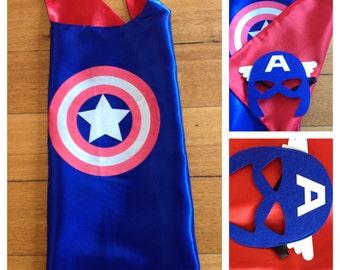 Captain America Cape & Mask Set