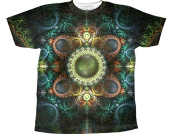 psychedelic shirt fractal dance tye dye all over print vivid design rave party