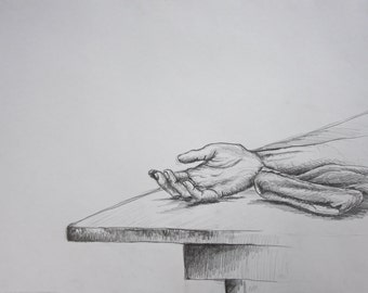 "Graphite Drawing - ""Rested"" 2013"