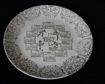 1951 Calendar Plate