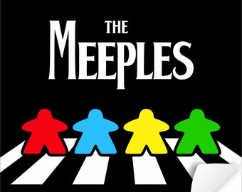 The Meeples on Abbey Road Poster   meeple   tabletop and hobby gaming decor   boardgaming art for boardgame geeks - geeky goodies