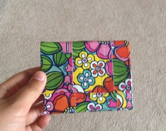 floral duct tape wallet