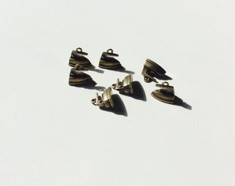 16mm x 15mm iron brass charms