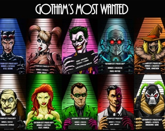 Gotham City's most wanted original art poster