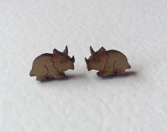 Triceratops Stud Earrings