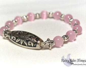 Pink Cat Eye bracelet