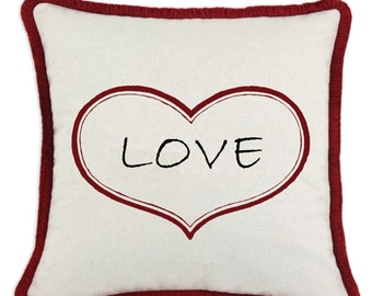 Valentine Love Heart Pillow