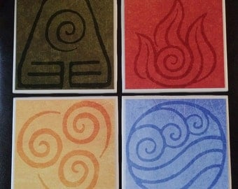 Avatar: The Last Airbender Inspired Drink Coasters | Set of 4