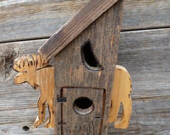 Moose outhouse Birdhouse