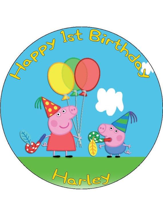 peppa pig birthday cake instructions
