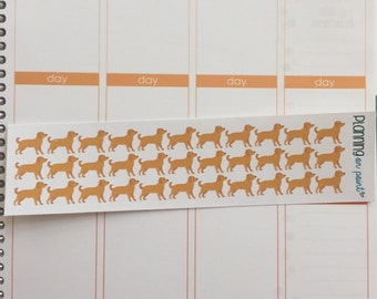 Golden Retriever Yellow Lab Dog Planner Stickers