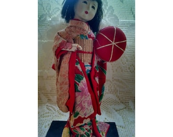 Vintage Collectible Geisha Doll