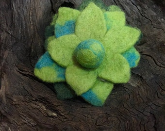 Hand Felted Flower Pin