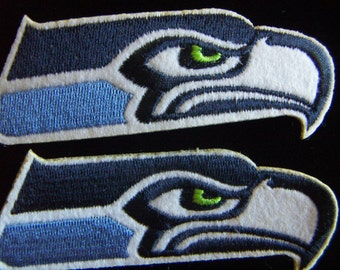 Seahawk Embroidery Eagle Bird  Patches  Eco-Friendly Embroidery Team Football Patches-