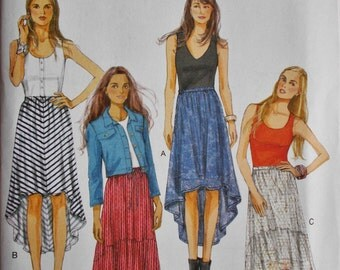 006 Butterick Misses' High-Low Skirt Pattern Sizes Large, XLarge and XXLarge