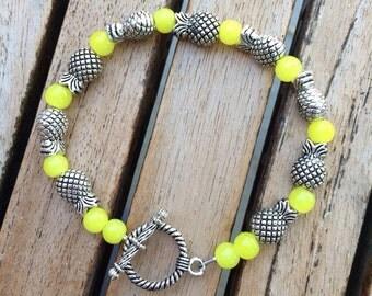 Hawaiian Pineapple Beaded Bracelet