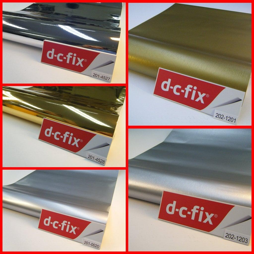 Contact Paper DC FIX Silver Gold Matt Gloss Effect Sticky Back ...