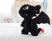 """How To Train Your Dragon Toothless Night Fury Stuffed Animal Plush Toy Doll 12 """""""
