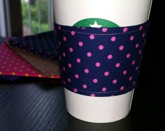 Hand made reusable coffee sleeve.